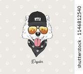 samoyed dog urban fashion... | Shutterstock .eps vector #1146812540