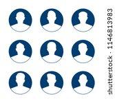 app or profile user icon set.... | Shutterstock .eps vector #1146813983