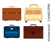 set of four bags on white... | Shutterstock .eps vector #1146813986