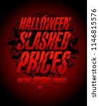 halloween slashed prices vector ... | Shutterstock .eps vector #1146815576