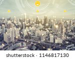 smart city wireless... | Shutterstock . vector #1146817130