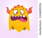 cartoon orange monster. monster ... | Shutterstock .eps vector #1146820316