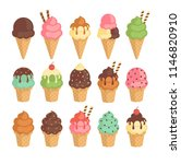 set of colorful tasty isolated... | Shutterstock .eps vector #1146820910