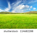 Meadow And Sky With Bright...