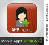 add female user   vector... | Shutterstock .eps vector #1146825116