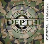 depth camouflaged emblem | Shutterstock .eps vector #1146828173