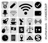 set of 22 business high quality ... | Shutterstock .eps vector #1146828269