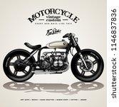vintage motorcycle poster | Shutterstock .eps vector #1146837836