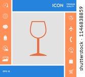 wineglass symbol icon | Shutterstock .eps vector #1146838859