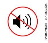mute volume  icon   Shutterstock .eps vector #1146839336