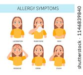 allergy symptoms   lacrimation  ... | Shutterstock .eps vector #1146839840