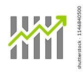 statistics vector icon ... | Shutterstock .eps vector #1146840500