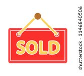 information label has been sold.... | Shutterstock .eps vector #1146840506