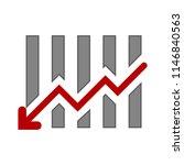business graph  financial...   Shutterstock .eps vector #1146840563