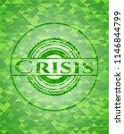 crisis realistic green emblem.... | Shutterstock .eps vector #1146844799