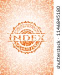 index abstract orange mosaic... | Shutterstock .eps vector #1146845180