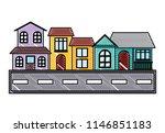 traditional houses design | Shutterstock .eps vector #1146851183