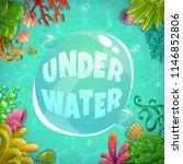 underwater background with...   Shutterstock .eps vector #1146852806