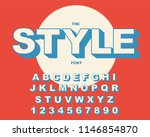 vector of modern bold font and... | Shutterstock .eps vector #1146854870