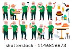 old man poses set vector.... | Shutterstock .eps vector #1146856673