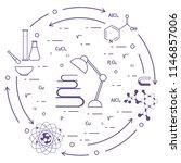 scientific  education elements. ... | Shutterstock .eps vector #1146857006