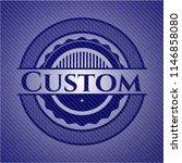 custom emblem with denim texture | Shutterstock .eps vector #1146858080