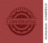 confidential realistic red... | Shutterstock .eps vector #1146858113