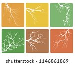 tree branch buttons icons vector | Shutterstock .eps vector #1146861869