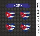 cuba heart with flag inside.... | Shutterstock .eps vector #1146862370