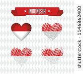 indonesia. collection of four... | Shutterstock .eps vector #1146862400