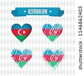azerbaijan with love. design... | Shutterstock .eps vector #1146862403