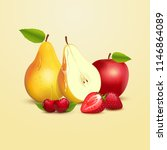 vector illustration fruits.... | Shutterstock .eps vector #1146864089