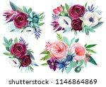 watercolor illustration  set of ... | Shutterstock . vector #1146864869