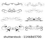 set of decorative florish... | Shutterstock .eps vector #1146865700