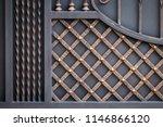 wrought iron gates  ornamental... | Shutterstock . vector #1146866120