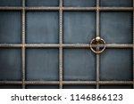 wrought iron gates  ornamental... | Shutterstock . vector #1146866123