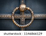 wrought iron gates  ornamental... | Shutterstock . vector #1146866129
