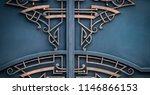 wrought iron gates  ornamental... | Shutterstock . vector #1146866153