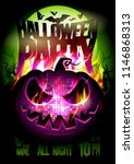 halloween party vector poster... | Shutterstock .eps vector #1146868313