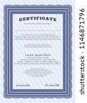 blue certificate template. easy ... | Shutterstock .eps vector #1146871796