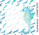 watercolor template for social... | Shutterstock . vector #1146873293