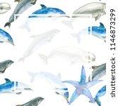 watercolor template for social... | Shutterstock . vector #1146873299