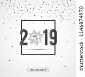 new year 2019 greeting card...   Shutterstock .eps vector #1146874970