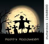 halloween scary postcard   Shutterstock .eps vector #114688000