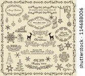 set of christmas design elements   Shutterstock .eps vector #114688006