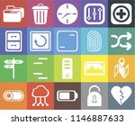 set of 20 icons such as dislike ...