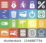 set of 20 icons such as cloud...