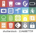 set of 20 icons such as locked  ...