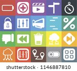 set of 20 icons such as menu ...