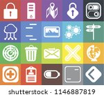 set of 20 icons such as back ...